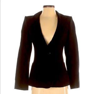 Nina Ricci Wool Black One Button Blazer Sz Small